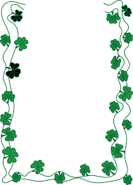clipart of a st patricks day shamrock clover border