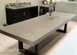 concrete top dining table concrete tables can have interesting details added check out this