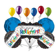 retirement balloon bouquet 11 pc colorful officially retired balloon bouquet decoration