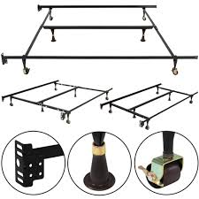 adjustable metal bed frame w center support u2013 best choice products