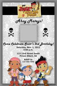 jake the pirate birthday invitations