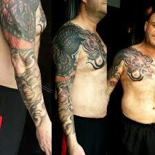 japanese full sleeve tattoo by louis santos leeds
