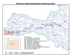 Map Of Eugene Oregon by Mckenzie River Oregon Water Quality Assessment
