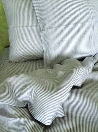 linen duvet cover in blue and white stripe linen 4 you