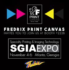 2015 sgia expo atlanta georgia fredrix print canvas