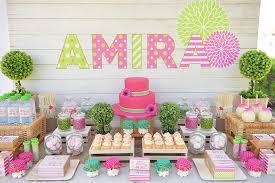 kara u0027s party ideas pink green floral garden birthday party