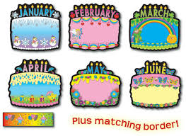 birthday cakes bulletin board set cd 1726