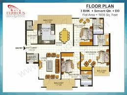 ferrous city residuntial flats floor plan in greater faridabad