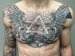 wings chest piece tattoo tattoo pinterest chest piece