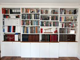 white bookcase white built in modern bookcase bespoke furniture fitted