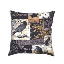 gothic raven decorative throw pillow victorian steampunk home