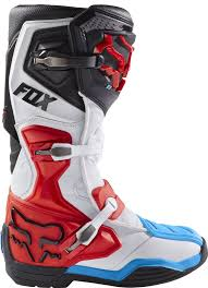 white motocross boots fox comp 8 rs motocross boots red white 1stmx co uk