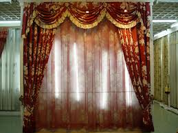 living room curtains with attached valance window treatments