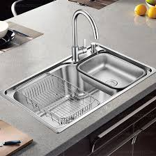 single kitchen sink faucet single bowl kitchen sink and faucet stainless steel 298 99