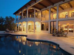 Mediterranean Style Mansions Exterior Concrete Paint Home Design Ideas And Architecture With