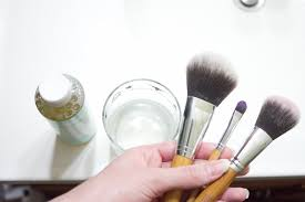 cleaning your makeup brushes step 1