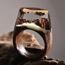 rings wooden images New miniature worlds encased into wooden rings by secret wood jpg