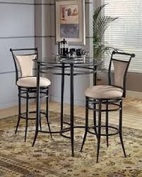High Bar Table Set Table With Two Chairs Bistro Style Cierra Bar Height Bistro
