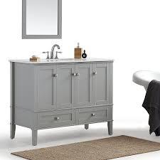 simpli home chelsea 42 inch bath vanity with white quartz marble