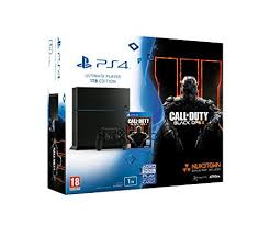 amazon com playstation 4 black sony playstation 4 1tb with call of duty black ops 3 amazon co