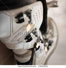 dirty riding boots dirty motocross boots dirt bike riding stock photo 778382644