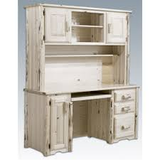 Distressed Office Desk Furniture White Distressed Wood Office Desk With Hutch For