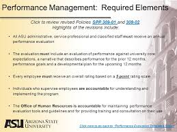 arizona state university performance management program guidelines