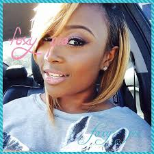 shortcut for black hair foxy pie ombre honey blonde lace front wig brazilian human hair