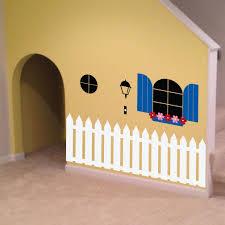 indoor playhouse decal 0088 kids wall art playroom decal zoom