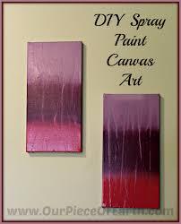 diy spray paint canvas art our piece of earth