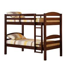 Futon Bunk Bed Wood Espresso Solid Wood Brown Bunk Wooden With Futon How Awesome