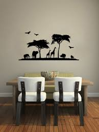 compare prices on african decor bedroom online shopping buy low african scenery tree animals wall decals living room home decor bedroom wall stickers vinyl art decor