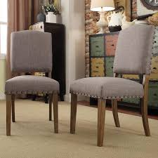 Target Side Chairs by Benchwright Premium Nailhead Upholstered Dining Chairs Set Of 2