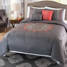 coral and gray bedding vnproweb decoration