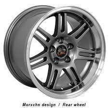 17x10 mustang wheels 17 ford mustang 10th anniv dish wheels gunmetal 17x10
