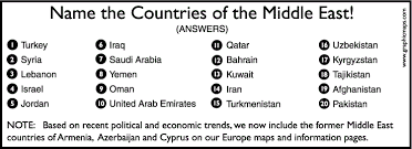 middle east map test index of notes geography 3500 middle east