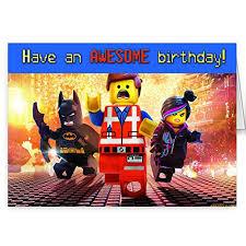 the lego movie birthday card amazon co uk kitchen u0026 home