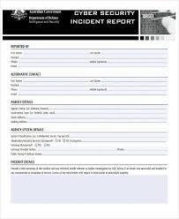 Computer Security Incident Report Template by 33 Free Incident Report Templates Free Premium Templates