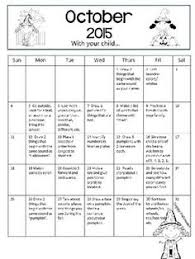 kindergarten homework calendars 2017 2018 free yearly updates