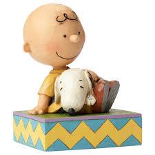 jim shore peanuts snuggling snoopy charlie brown figurine