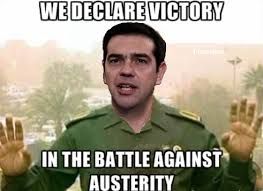 Victory Meme - greek pm tsipras makes a comical declaration of victory