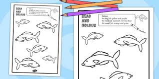 colour worksheet reading colouring animals