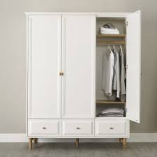 White Laminated Flooring Wardrobe White Small Wooden Armoire Leg Wardrobe Cabinet Classic