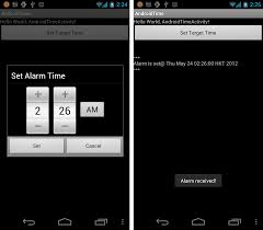 how to set alarm on android android er create alarm set on a specified time using