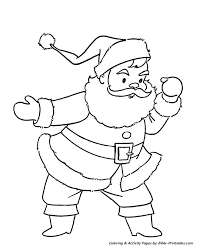 santa christmas coloring pages santa roof