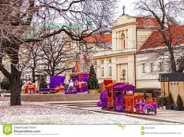 toy train for christmas tree christmas lights decoration
