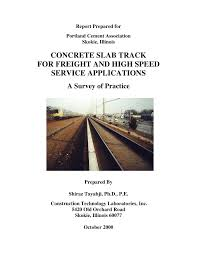 concrete slab track state of the practice pdf download available