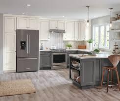 gray glazed white kitchen cabinets macaulay painted white with grey glaze moonstone