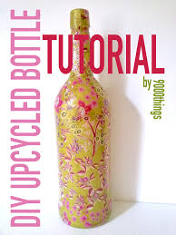 decoupage blog tutorial diy decoupage bottle kit instructions 9000things online