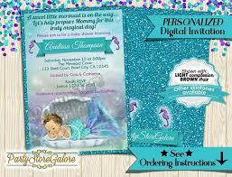 mermaid baby shower invitations mermaid the sea